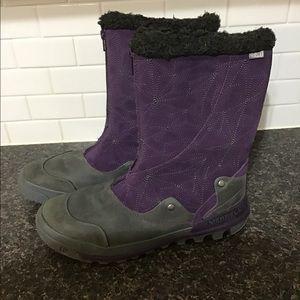 Merrell silversun zip waterproof boots size 10